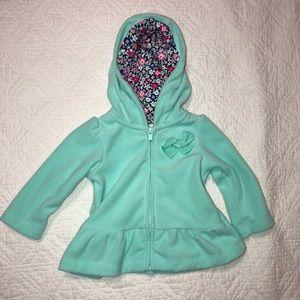 💛 Mint Fleece Zipper Peplum Jacket 3M NWOT